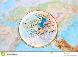 Beirut On Map Looking In On Beirut Lebanon Middle East Asia Stock Image