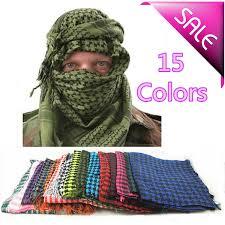 arab wrap 10pcs lot outdoor mens tactical army combat scarves