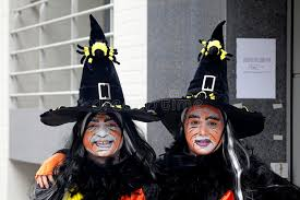 people dressed up as witches belgium editorial photo image