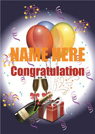 congratulation poster print by phone