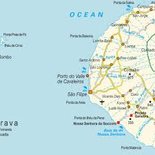 Cabo Map Island Map Fogo And Brava Cabo Verde Maps And Directions At Map