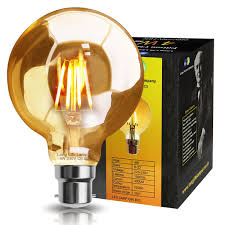 retro vintage led 4w globe edison style filament bulb smoked gold