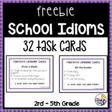 idioms task cards freebie by the teacher next door tpt