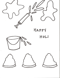 happy holi drawings for kids children 30 pictures