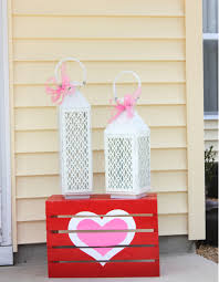 awesome valentine home porch decoration shows entrancing white