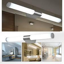 Bathroom Mirror Light Fixtures Fuloon Led Modern Brief Tube Make Up Lighting Wall Light Bathroom