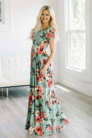 maxi dress with sleeves mint watercolor floral maxi modest dress best and affordable