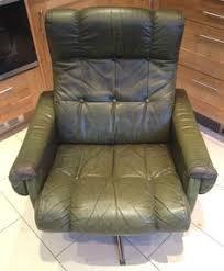 Reclining Armchair Leather Danish Retro Leather U0026 Chrome Reclining Armchair U0026 Stool Vintage