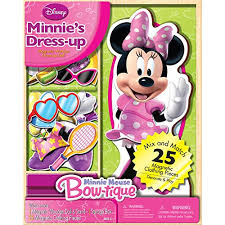 amazon bendon disney minnie mouse wooden magnetic playset 25