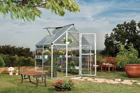Palram Polycarbonate Greenhouse Amazon Com Palram Nature Series Hybrid Hobby Greenhouse 6 U0027 X 4