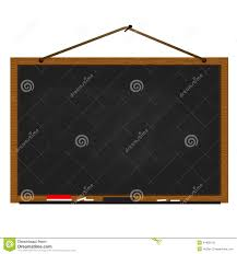 black chalkboard wood frame hanging on nail stock vector