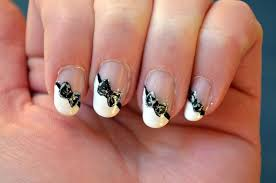 cute french tip nail designs nail art