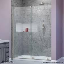 dreamline shdr 1948723l 01 mirage x chrome shower doors efaucets com