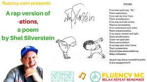 fluency mc does a rap version of ations by shel silverstein