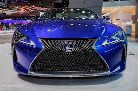 lexus is electric car 2016 lexus lc500h shows up in stunning blue exterior in geneva is