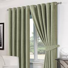Curtains Ring Top Luxury Ring Top Eyelet Chenille Lined Thermal Ready Made Curtains