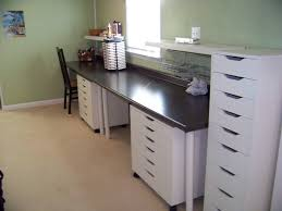 scrapbooking cabinets and workstations countertop desk with two workstations