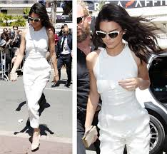 kendall jenner jumpsuit copy kendall jenner s white jumpsuit style from the 2016