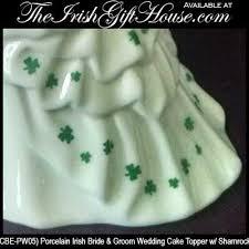 irish wedding cake topper shamrock bride and groom