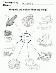 kindergarten thanksgiving worksheets worksheets