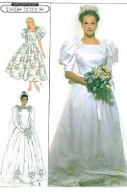 wedding dress sewing patterns vtg wedding gown sewing pattern princess dress fitted bodice roses