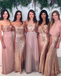 cool bridesmaid style inspiration dress images gold sparkle and