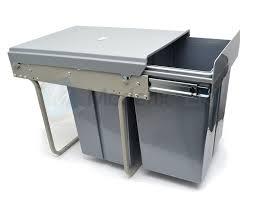 poubelle pour meuble de cuisine poubelle 3 bacs 40l 2x10l 20l coulissant pour meuble de cuisine