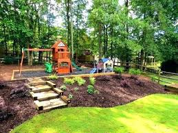 a backyard backyard hill landscaping backyard landscaping ideas with hill
