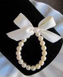 pearl ribbon flower girl pearl bracelet flower girl bracelet flower girl