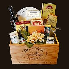 themed gift basket our specialty italian themed gift basket is in a real wine crate