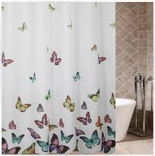 Shower Curtains Extra Long Colorful Butterfly Shower Curtaiins Funky Polyester Extra Long