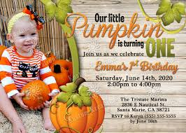 pumpkin birthday invitations kustom kreations