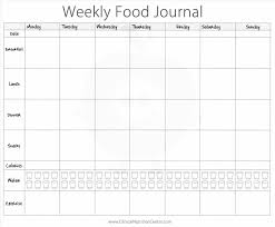 calendar weekly menu template planning pinterest blank diet sheet