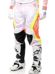 troy lee designs motocross helmet troy lee designs white orange se pro corse mx pant troy lee