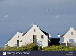 houses in cape dutch architectural style in arniston south africa