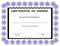 sample award certificates sample achievement award certificate