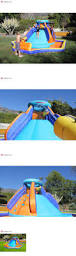 water slides 145992 outdoor inflatable water slide pool bounce