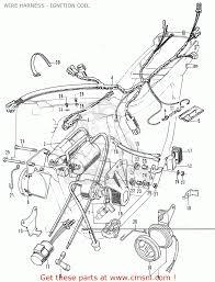 honda cb350k4 super sport 1972 usa wire harness ignition coil
