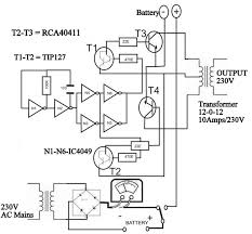 circuit diagram of solar inverter for home how solar inverter works