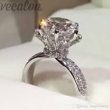 gã nstige verlobungsringe weiãÿgold 2017 vecalon fashion jewelry engagement wedding band ring for