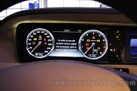 mercedes digital dashboard mercedes s600 guard dashboard from the india launch indian autos