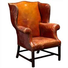 Leather Wing Back Chairs Obsolete Oversized English Bordeaux Leather Wingback Chair
