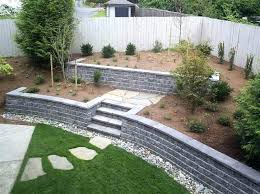 Backyard Retaining Wall Ideas Cinder Block Wall Ideas Concrete Retaining Wall Ideas Walls Cinder