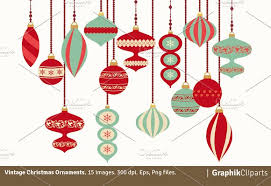 christmas ornaments vintage christmas ornaments illustrations creative market