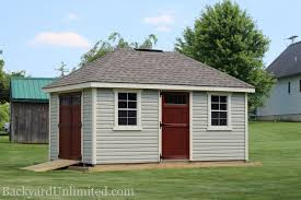 Shed Style Architecture Sheds Hip Roof Backyard Unlimited