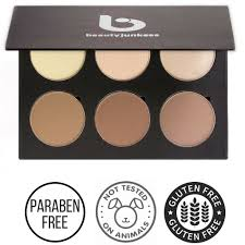 contour and highlighting makeup palette beauty junkees
