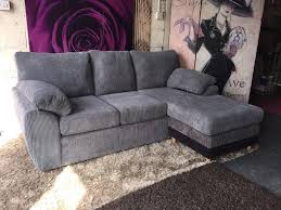 Sofa With Reversible Chaise Lounge by New Rebecca 3 Seater Reversible Chaise Sofa In Charcoal Can Be