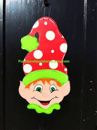 hand painted holiday elf chistmas deciratin wooden elf large