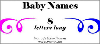 long list of baby names both boy names and names that are 8