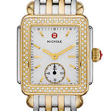 deco 16 two tone 18 deco 16 watches by michele deco 16 collection gold